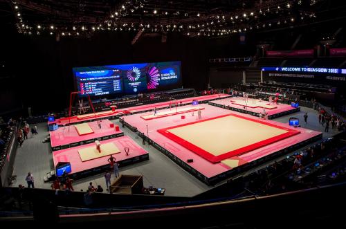 Kuva: Telinevoimistelun MM-kilpailut 2015 Glasgowssa